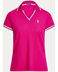 Ralph Lauren Golf Polo De Críquet Tailored Fit - Rosa