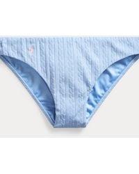 Ralph Lauren Cable-knit Hipster Bottom - Blue