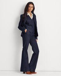 Ralph Lauren Veste en denim indigo stretch - Bleu