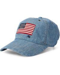 e03924f8605 Polo Ralph Lauren Beachside Bucket Hat in White for Men - Lyst