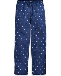 Polo Ralph Lauren Pantalon de pyjama en coton - Bleu