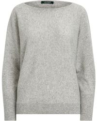 Ralph Lauren Washable Cashmere Sweater - Gray