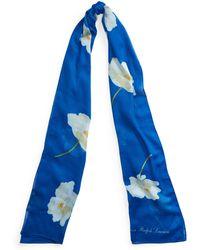 Ralph Lauren Maria Floral Scarf - Blue