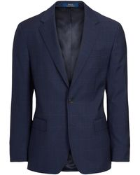 Polo Ralph Lauren Polo Plaid Wool Twill Suit - Blue