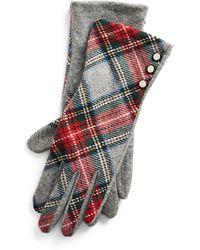Ralph Lauren Wool-blend Buttoned Gloves - Multicolor