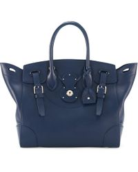Ralph Lauren - Navy Nappa Leather Soft Ricky - Lyst