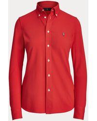 Polo Ralph Lauren Chemise Oxford en coton piqué - Rouge