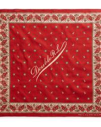 RRL Bandana in cotone con logo - Rosso