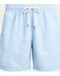 Polo Ralph Lauren Short de bain Traveler 14,6 cm - Bleu