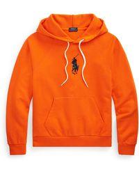 Polo Ralph Lauren Big Pony Terry Hoodie - Orange