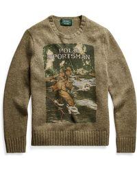 Polo Ralph Lauren Wollpullover Sportsman - Grün