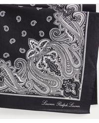 Ralph Lauren Bandana in cotone motivo cashmere - Nero