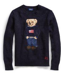 Ralph Lauren Polo Bear Cotton-linen Sweater - Blue