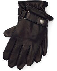 Polo Ralph Lauren Touch-Handschuhe aus Nappaleder - Schwarz