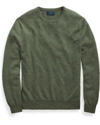 Ralph Lauren Washable Cashmere Crewneck Sweater - Green