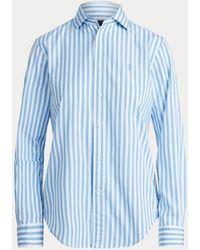 Polo Ralph Lauren Camisa De Algodón De Rayas Classic Fit - Azul
