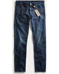 RRL Slim Fit Selvedge Jeans - Blue
