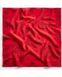 Polo Ralph Lauren Pañuelo De Seda Estampado Polo Clot - Rojo