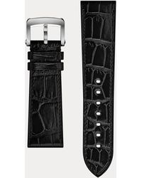 Ralph Lauren Bracelet sport en alligator 23x20 - Noir