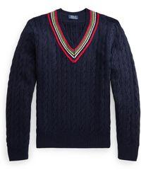 Ralph Lauren The 67 Cricket Sweater - Blue
