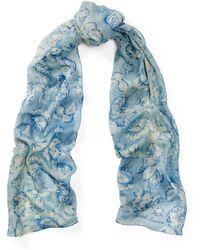 Ralph Lauren - Rose-print Cashmere-silk Scarf - Lyst