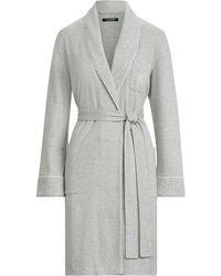 Ralph Lauren Cotton Shawl-collar Robe - Gray