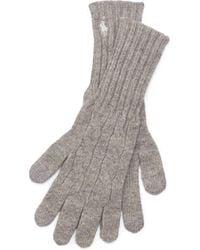 Polo Ralph Lauren - Cable Cashmere-blend Gloves - Lyst
