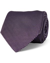 Ralph Lauren Purple Label - Grid Silk Jacquard Tie - Lyst