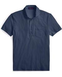Ralph Lauren Purple Label - Washed Piqué Polo Shirt - Lyst