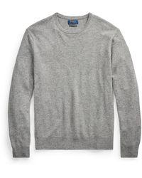 Ralph Lauren Washable Cashmere Crewneck Sweater - Gray