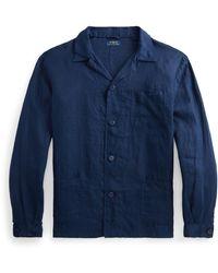 Polo Ralph Lauren Classic Fit Linen Workshirt - Blue