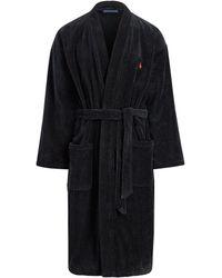 Polo Ralph Lauren - Cotton Velour Kimono Robe - Lyst