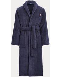 Polo Ralph Lauren Bademantel aus Baumwoll-Frottee - Blau