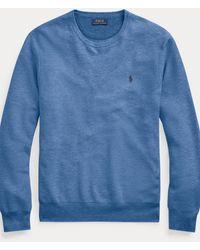 Polo Ralph Lauren Pull col rond en coton - Bleu