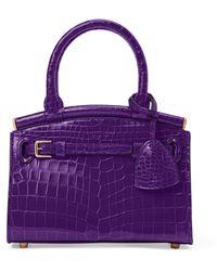 Ralph Lauren Alligator Mini Rl50 Handbag - Purple