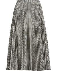 Ralph Lauren Pleated Midi Skirt - Multicolour