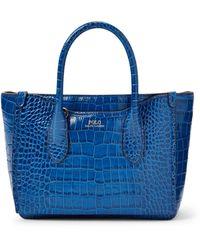 Polo Ralph Lauren Embossed Mini Sloane Satchel - Blue
