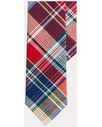 Polo Ralph Lauren Leinenkrawatte mit Tartanmuster - Mehrfarbig