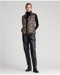 Polo Ralph Lauren Leopard-print Down Gilet - Multicolor