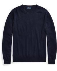 Ralph Lauren Washable Cashmere Crewneck Sweater - Blue