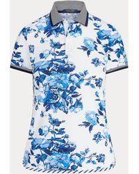 Ralph Lauren Golf Tailored Fit Floral Golf Polo Shirt - Blue