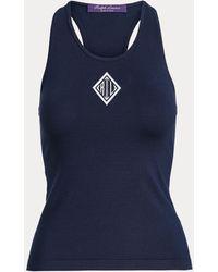 Ralph Lauren Camiseta De Seda Con Monograma - Azul