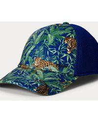 Ralph Lauren Casquette Jaguar Flex-Fit - Bleu