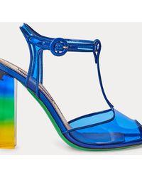 Ralph Lauren Tauchgefärbte Sandale Katy mit T-Strap - Blau
