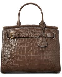 Ralph Lauren Alligator Medium Rl50 Handbag - Brown