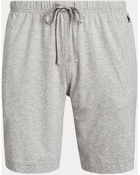 Polo Ralph Lauren Pantalón Corto De Pijama De Punto Jersey De Algodón - Gris