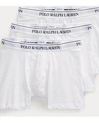 Polo Ralph Lauren Lot de 3 slips boxers - Blanc