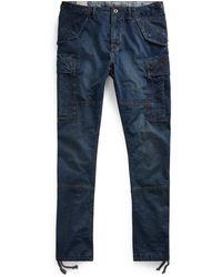 Ralph Lauren Slim Fit Denim Cargo Pant - Blue