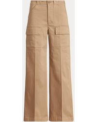 Ralph Lauren Pantalon cargo à jambe large - Neutre