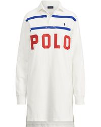 Polo Ralph Lauren - Polo Cotton Rugby Dress - Lyst